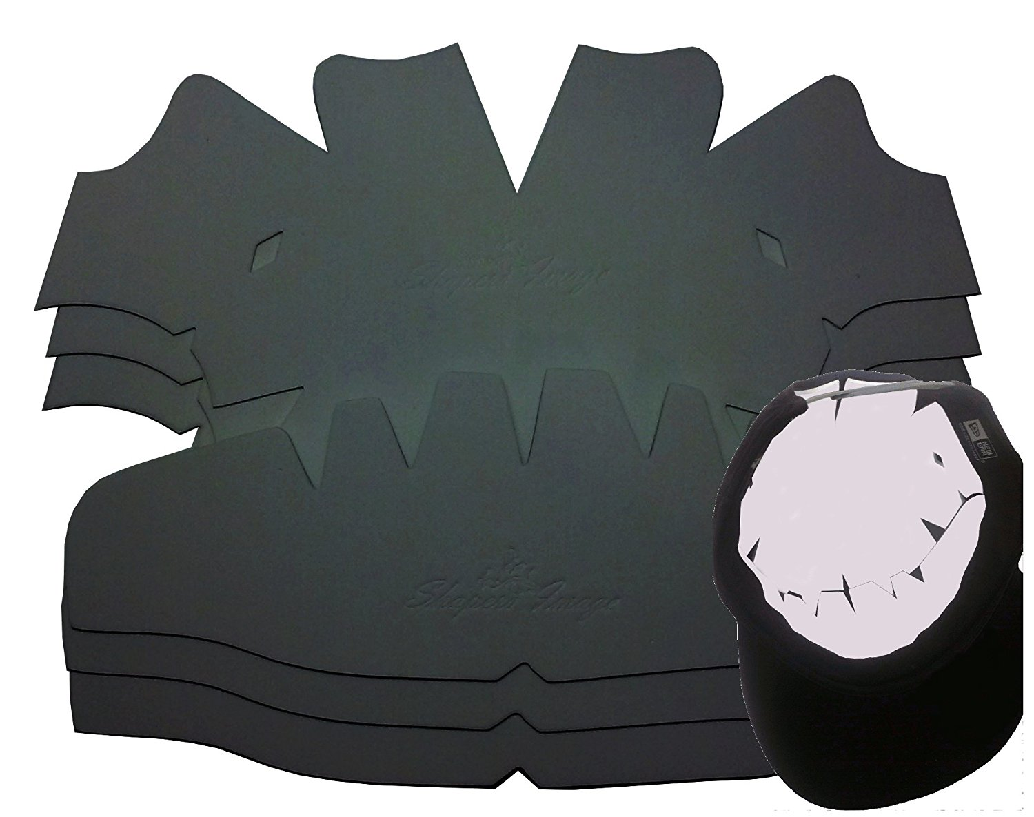 c341d7aa1f8 Get Quotations · 3Pk. Baseball Cap Dome Panel Shaper and Hat Crown Insert  Combo-Flexible-High