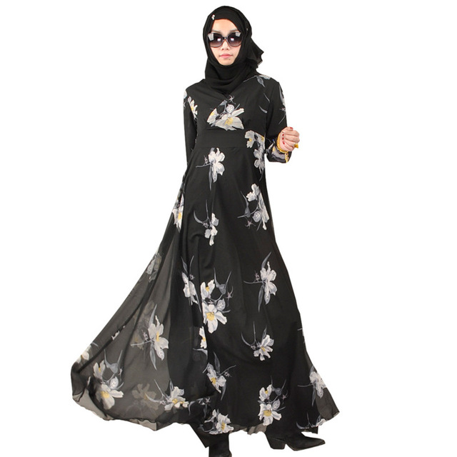 bbc706ec06c8 Z92514A 2017 High Quality Buttons Black Abaya Long Sleeve Maxi Kaftan  Muslim Dress For Islamic Women