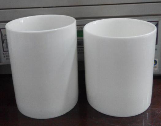 Porcelain Cup White Ceramic Mug No Handle Straight Plain