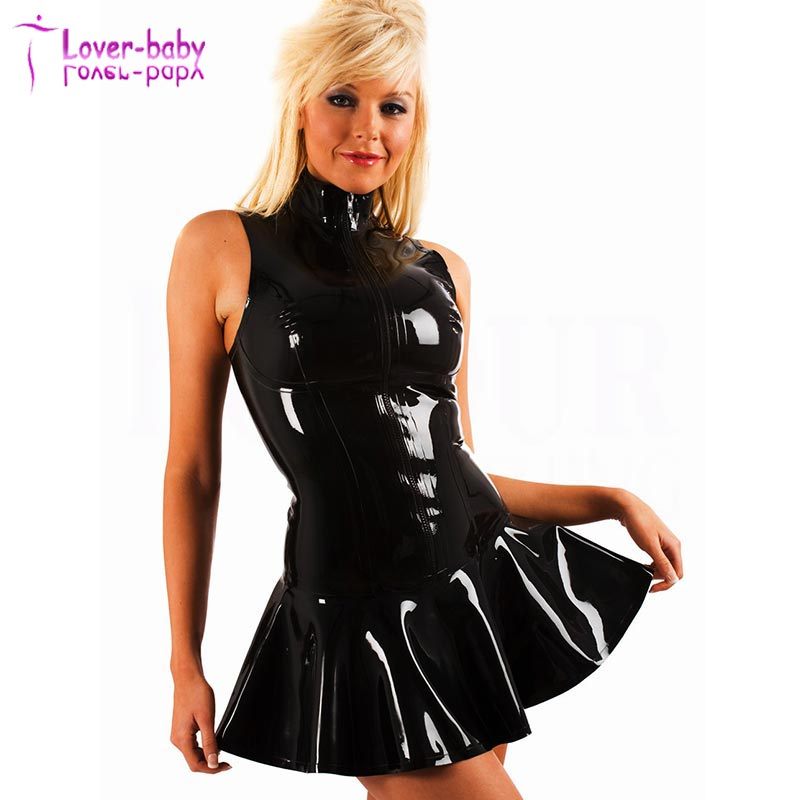 Flight Tracker Women Sexy Mesh Pvc Erotic Leotard Costume Black Faux Leather Mini Party Dress Pvc Clubwear Sexy Latex Wet Look Dress Backless Elegant And Sturdy Package Dresses