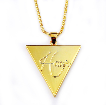 Fashion simple hip hop 14k gold triangle guitar pick pendant fashion simple hip hop 14k gold triangle guitar pick pendant necklace for men aloadofball Image collections
