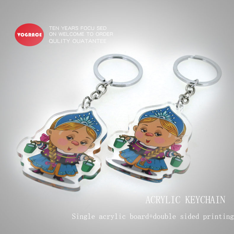 2019 Acrylic Keychain Two Sided Printed Personalized Custom And Transparent  Clear Cool Keyring - Buy Cheap Custom Keychains No Minimum,Charm Key