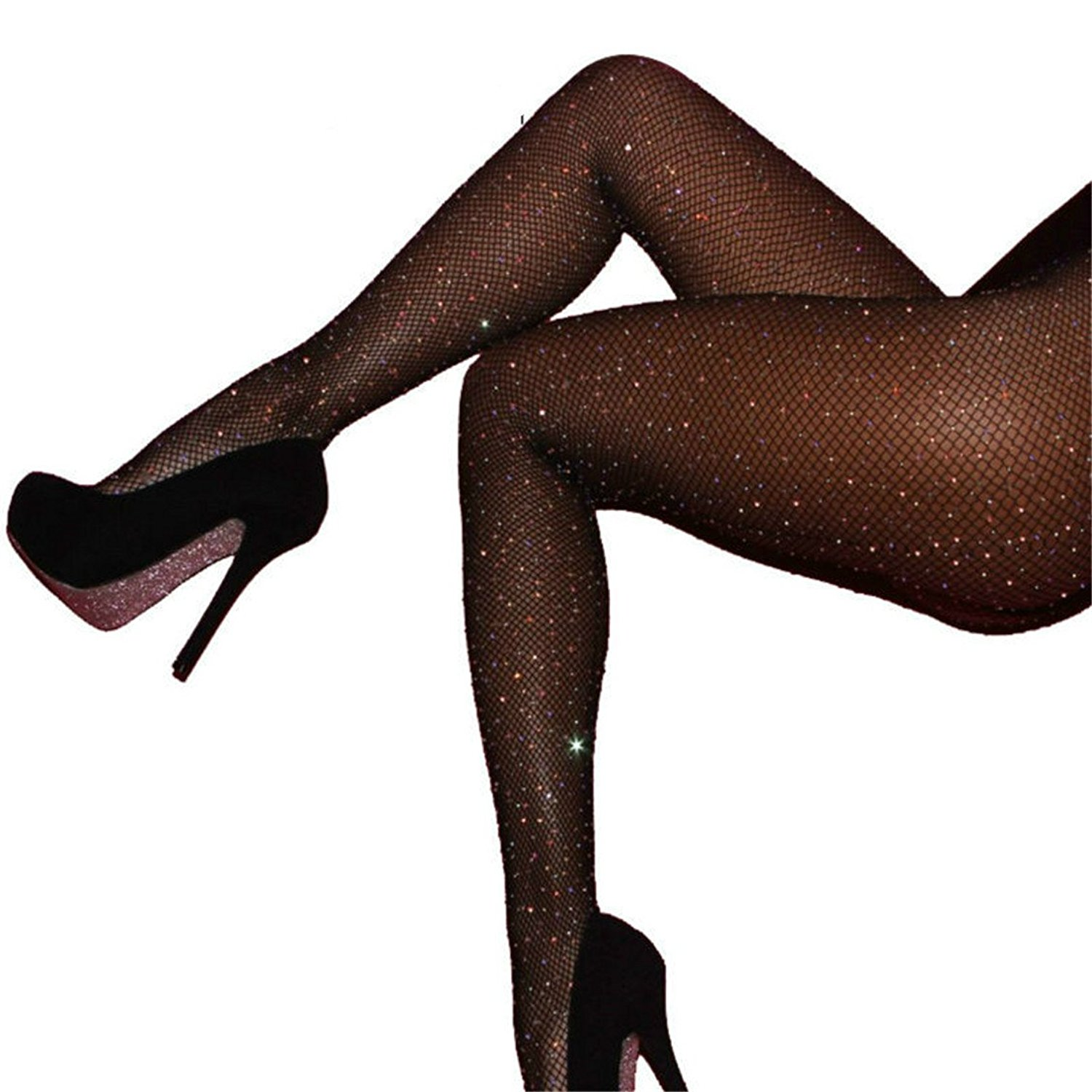 67221240719 ... Plus Size UK 14-22. Get Quotations · 2017 HOT NEW Shine Crystal Fishnet  Tights Pantyhose Stockings for Women Multi Color Diamonds Fish Net