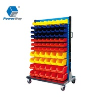 Warehouse and Garage Industrial Plastic Shelf Spare Parts Storage Boxes Bins for Screws