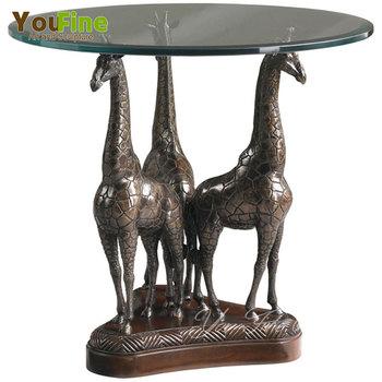 Salontafel Brons Met Glas.Gegoten Metaal Cheetah Sculptuur Decoratieve Bronzen Tafel Glazen Salontafel Buy Brons Glas Salontafel Bronzen Sculptuur Salontafel Bronzen Tafel