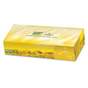 "Marcal Pro MRC2930CT Fluff-Out Facial Tissue, 2-Ply, Soft, 4-1/2"" x 8-3/5"" x 1-4/5"", 30 Boxes Per Carton, White"