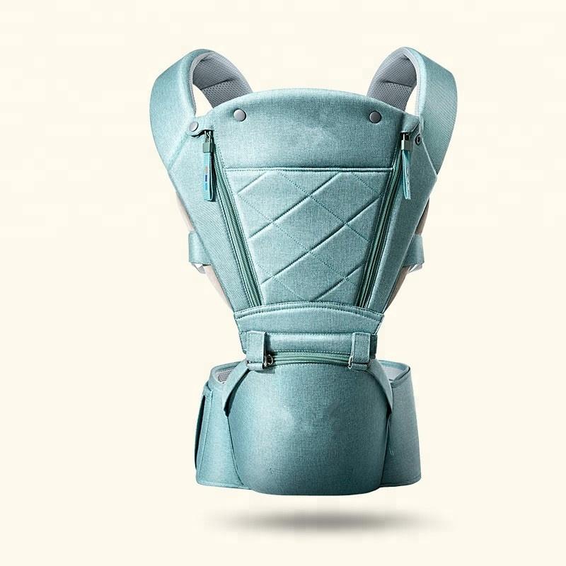 Ergonomic बच्चे वाहक हिप सीट के साथ, प्राकृतिक सभी मौसमों के लिए फार्म बच्चे वाहक बैग