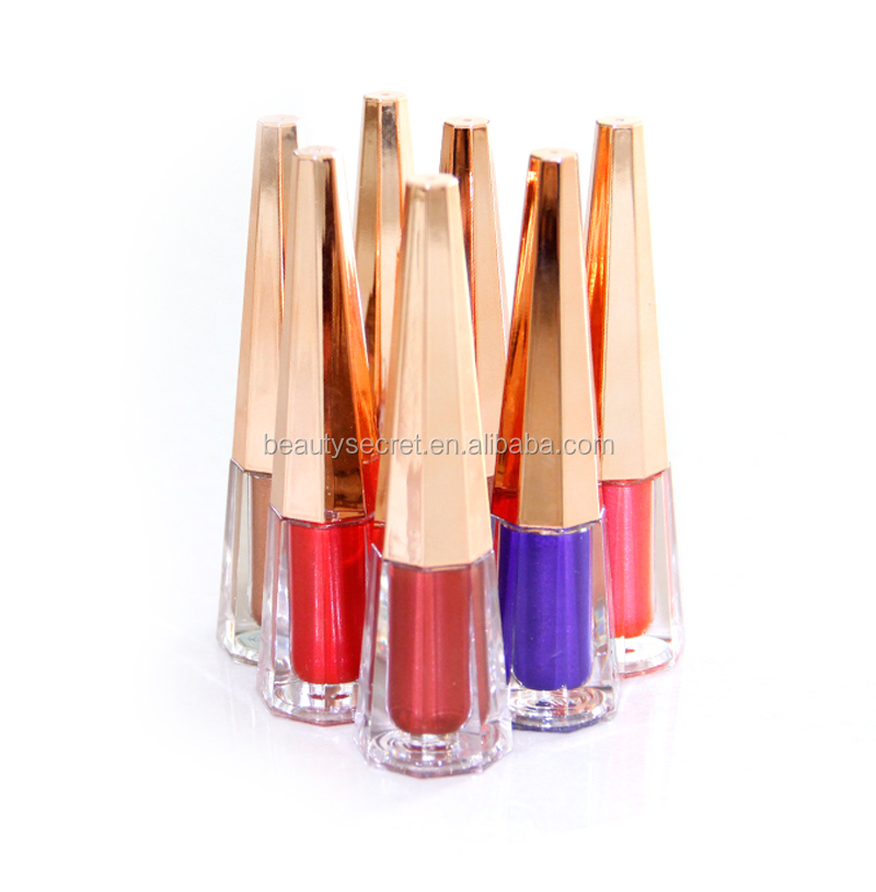 Wholesale OEM ODM beautiful colors shiny matte liquid lipstick waterproof transforming glitter metallic matte liquid lipsticks