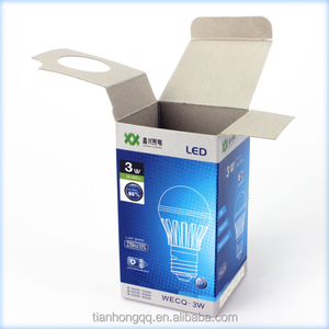Printed Cheap Cardboard Paper Box Packaging For LED Lamp Light Bulb Box