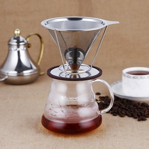 4 Cups Stainless Steel Vietnamese Coffee Filter With Silicone Base