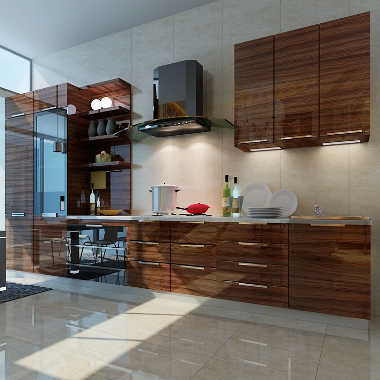 Basic acrylic kitchen cabinet acrylic doors 613