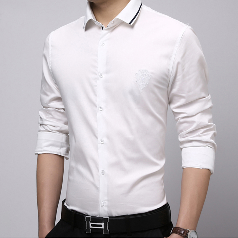 Mens Fashoin Plain White Shirt Collar Designs - Buy Plain White ...
