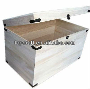 Charmant XXL WOODEN TRUNK STORAGE CHEST LINEN TOYS