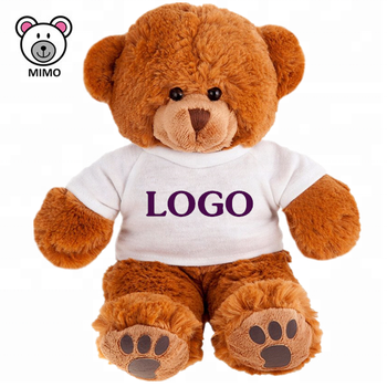 Giant Large Soft Cashmere Plush Brown Teddy Bear T-shirts Wholesale Kids Cute Custom LOGO Stuffed Animal Plush Big Teddy Bear
