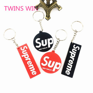 China factory custom company brand fashion promotional gift creative soft pvc key chain free sample for wholesale 237