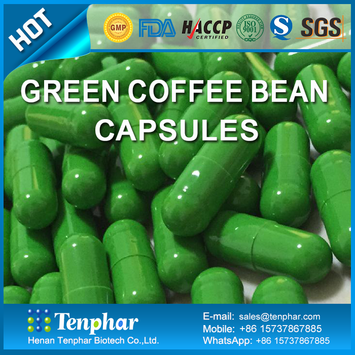 pure natural weight loss product green coffee bean extract capsules