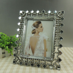Home decorative resin jeweled frame for sale