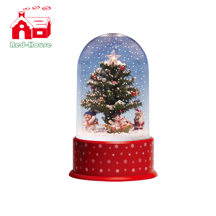 snowing christmas tree with revolving snowmen and transparent cover christmas stars buy christmas starsrevolving christmas treechristmas star with mini - Snowing Christmas Decoration