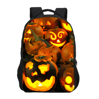 Alibaba Wholesale Cheap Holloween Style Polyester Casual Travel Leisure High School Bags Kids With Laptop Compartment