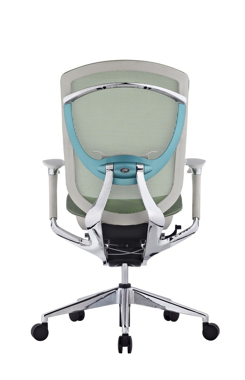 Green chair for office - Smile Face Ultra Thin Back Sliding Seat Green Office Chair