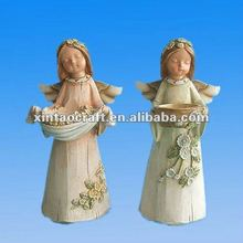 resin small angel crafts for 2012 newly decoration item