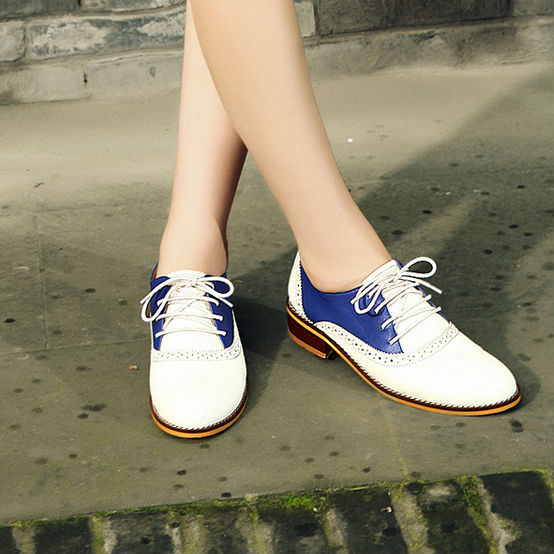 SINGLE NEW LEATHER D23077Q SHOES 2014 BRITISH FLAT WOMEN DESIGNS SHOES STYLE AUTUMN WOMEN 65HPw4qC