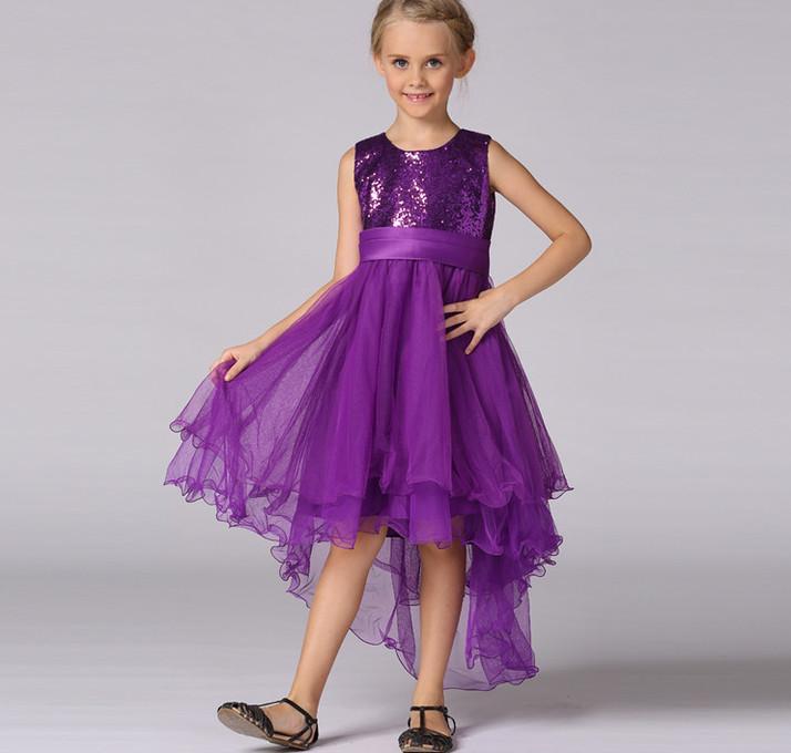 Vestido de noche de los niños ropa niños vestidos de lentejuelas ...