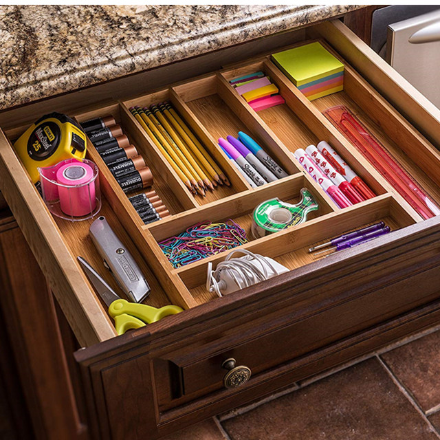 Convenient Professional Popular Bamboo Drawer Organizer
