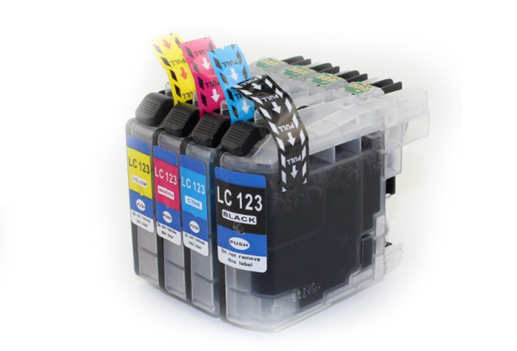 New chip ink cartridge compatible for brother lc123 lc 123
