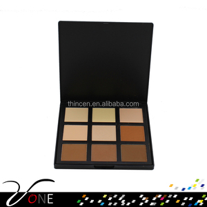 cosmetics makeup 9 colors face cake pressed powder foundation palette