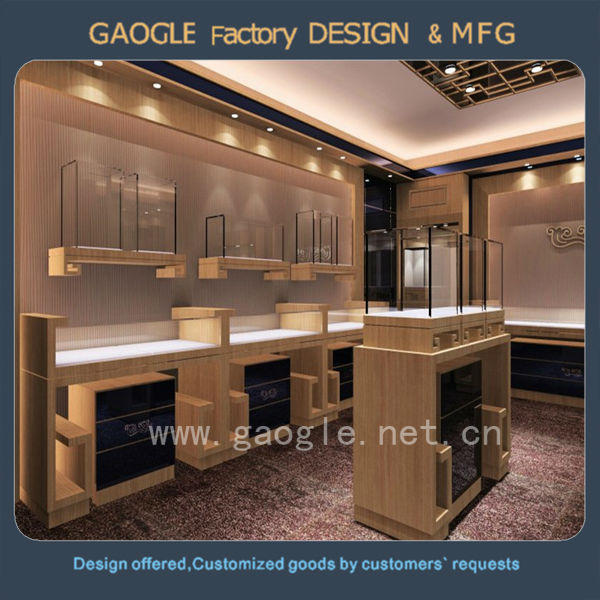 Customize Mall Showroom Wood Jewellery Shop Cash Counter Design
