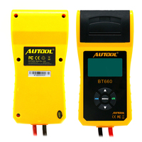 New Arrival Autool 12v Car Battery Load Tester With Printer Bt660 / Multi Language Digital Auto Automotive Battery Tester