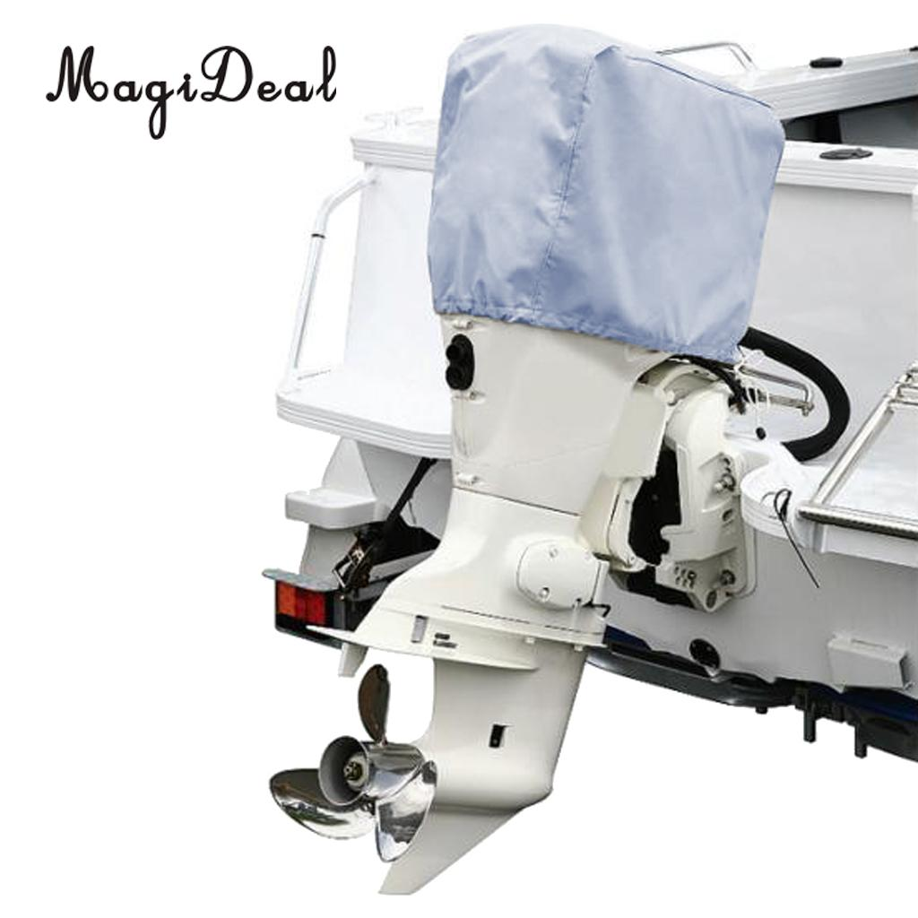 MagiDeal 2-15HP Outboard Motor Cowling Cover Boat Engine Protector Cover  Universal Trailerable Grey