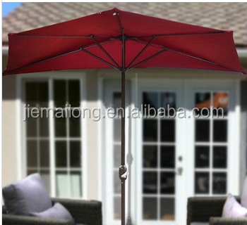 10 Patio Half Umbrella Wall Balcony Sun Shade Garden Outdoor Parasol Banana Type Cantilever