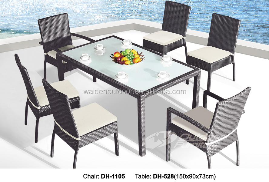 pas cher en rotin restaurant table et chaise dh 9642 buy product on. Black Bedroom Furniture Sets. Home Design Ideas