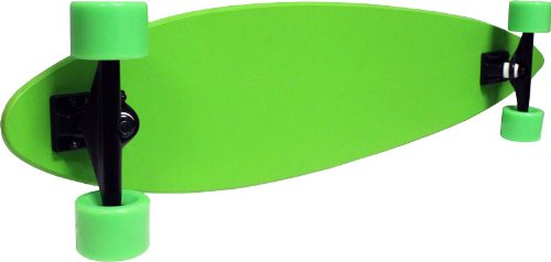 Longboard Pintail Cruiser Complete - Canadian Maple 9x43 Green