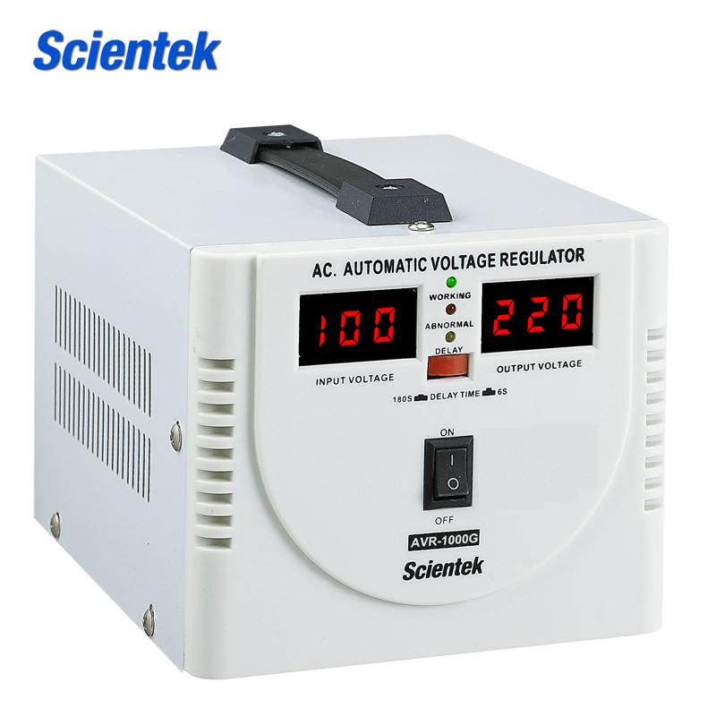 Relay Type input 100 to 260v Automatic Voltage Stabilizer 1000VA
