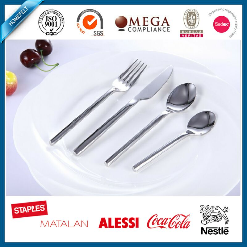 18/10 stainless steel cutlery set / flatware set / fork knife and spoon silver