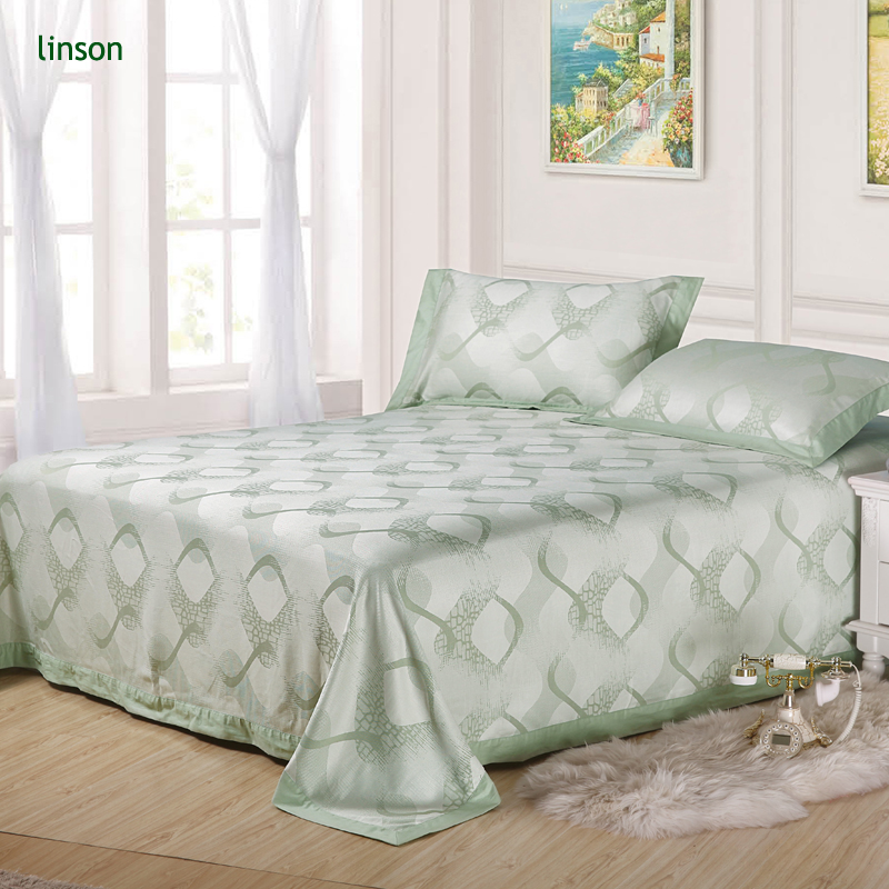 Wholesale Custom Printed 3pcs Quantity 100% Bamboo Bed Sheet Set Including Flat Sheet And Pillow Case