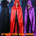 5 Colors S M L XL Wizard Halloween Hooded Cloak Coat Devil Wicca Robe Medieval Cape
