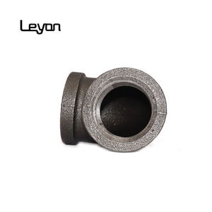 Ms Elbow Pipe Fitting Black Threaded Pipe Fittings decorative industrial pipe fittings elbow connector for mounting hardware