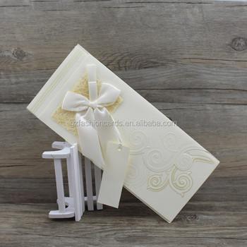 2017 Cheap Beige Color Unique Kerala Style Christian Wedding Card