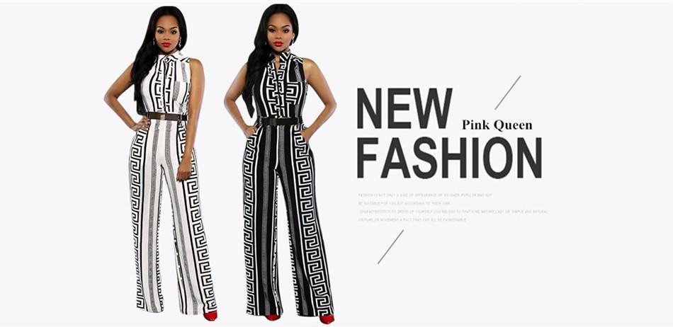 d6e1ce2acad Pink Queen 2016 Women Plus Size Jumpsuit XXXL Deep V Neck Long Sleeve  Elastic Big Large Size Romper Vintage Elegant Jumpsuits