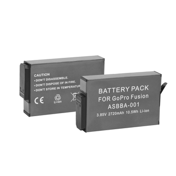 2018 New Arrival Accessories Battery Pack for GoPro Fusion ASBBA-001 3.85V 2720 mAh 10.5Wh Li-ion