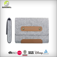 Carrying Felt Sleeve Case Bag Travel Organizer for Computer Cell Phone