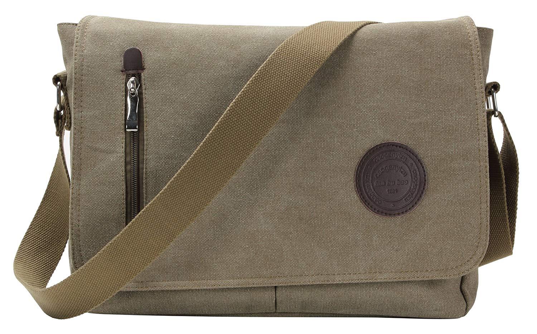 bb939be2d7ff Get Quotations · HONEYJOY Vintage Canvas Messenger Bag Shoulder Bag Laptop Bag  Bookbag School Bag Work Bag