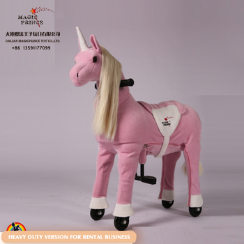 Great Adult ride on animal horse riding toy, mechanical horse pony on cycle system for sale