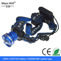 best selling zoom dimmer 500 meters led rechargeable headlamp motorcycle
