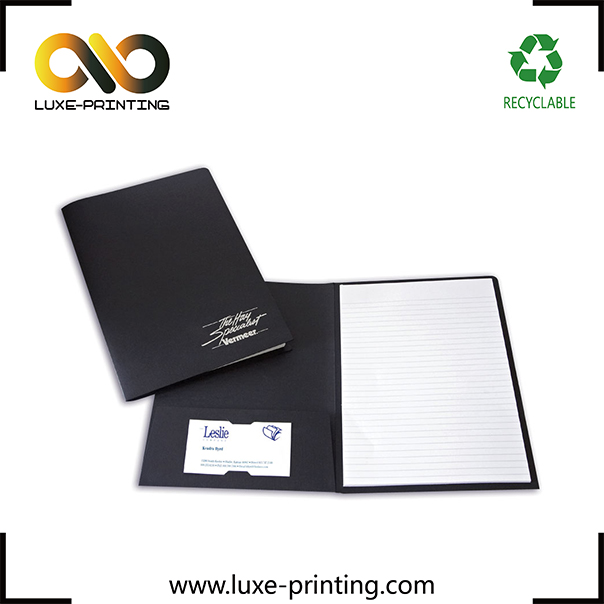 A4 size luxury black color file packaging price document packing folder