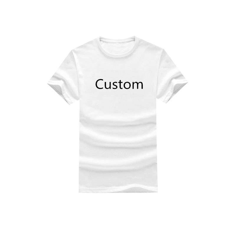 Black and White Cotton Digital Printing Custom T-Shirt